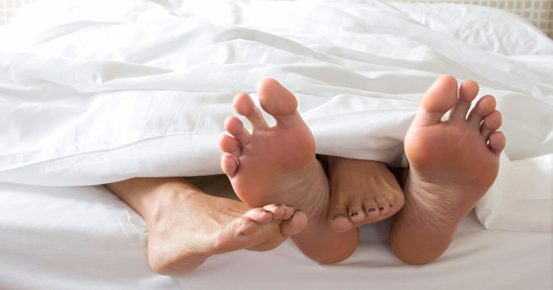 Can't Sleep? Stick Out Your Feet!