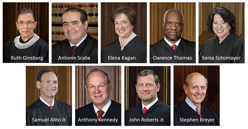 supreme court of justice usa 2015 headshots