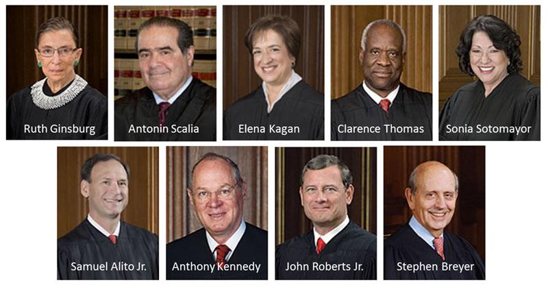 supreme court of justice usa 2015 headshots