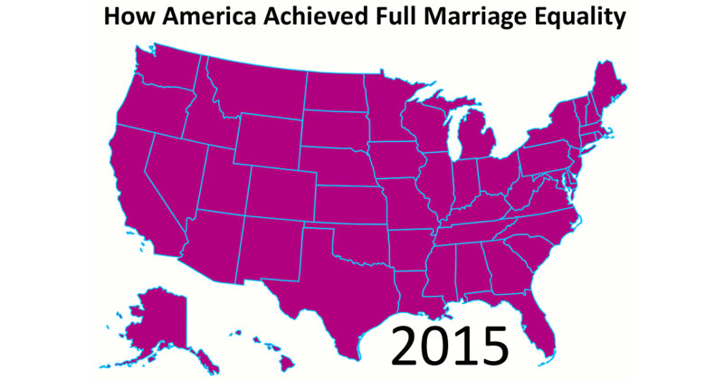 The History of Same-Sex Marriage in the US in a Single Gif