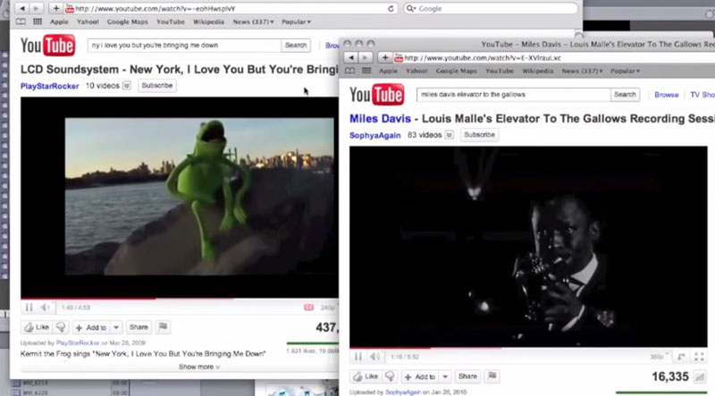 When YouTube Videos Go Perfectly Together: Miles Davis, LCD SoundsytemEdition