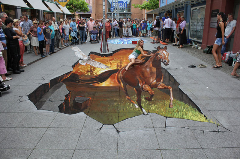 3D Sidewalk Paintings by Nikolaj Arndt «TwistedSifter