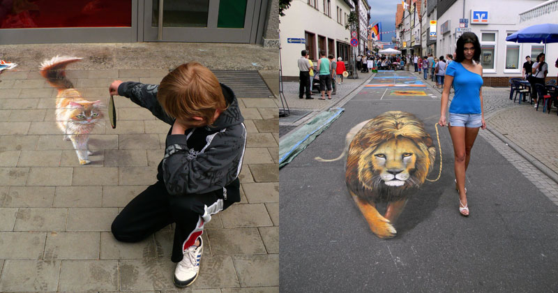 3D Sidewalk Paintings by Nikolaj Arndt