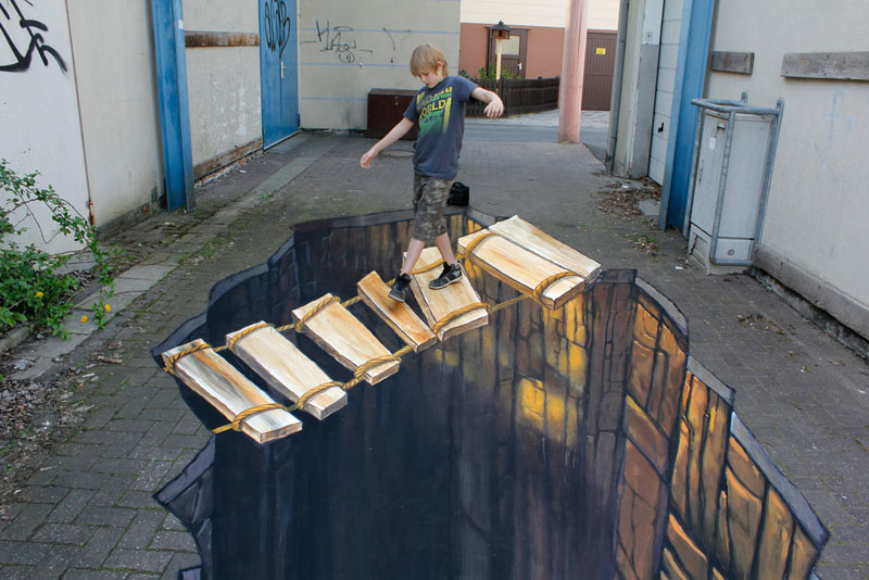 3D Sidewalk Paintings by Nikolaj Arndt (6)