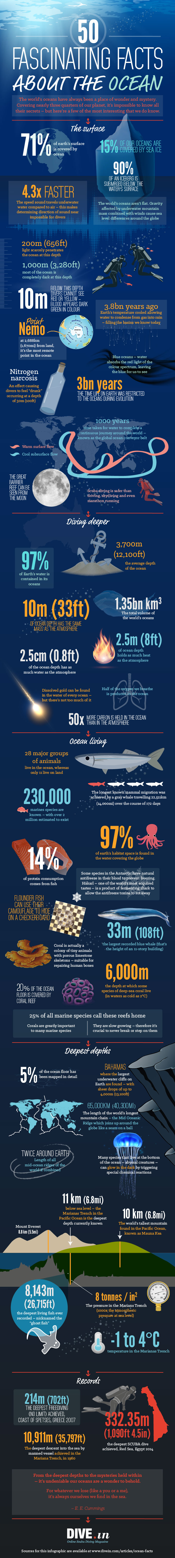 50 fascinating facts about the ocean in one giant infographic 50 Fascinating Facts About Our Oceans [Infographic]