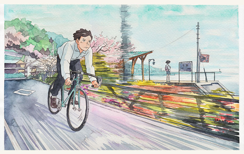 bicycle boy watercolor series by Mateusz Urbanowicz (5)