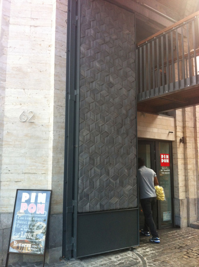Door Made Out Of Fire : This used to be a fire hall and its doors are made from