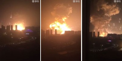 Eyewitness Captures Chilling Blast in Tianjin as Shipment of Explosives Goes Up in Flames