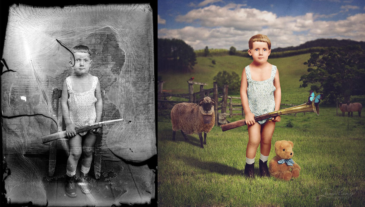 jane long colorizes old photos and adds a surreal twist to them (3)