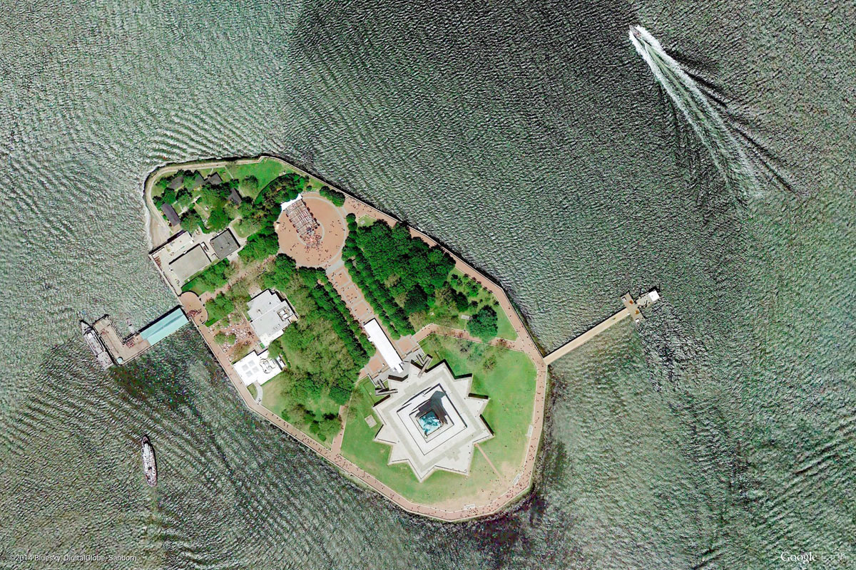 liberty island new york Earth View: A Curated Collection of 1500 Google Earth Wallpapers