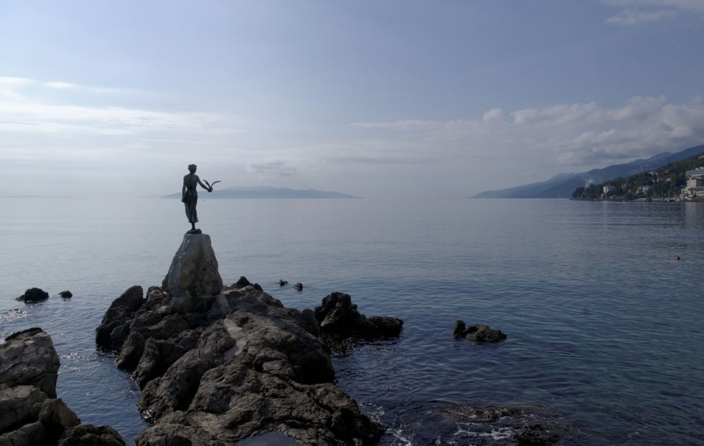 Picture of the Day: Maiden with the Seagull, Opatija,Croatia
