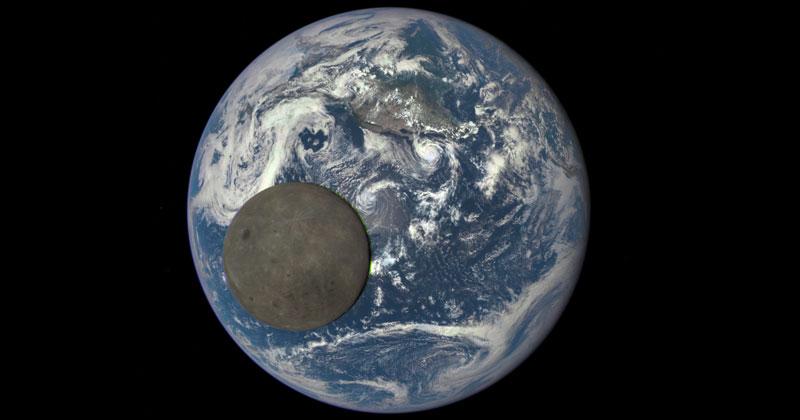 NASA Captures Dark Side of the Moon as it CrossesEarth