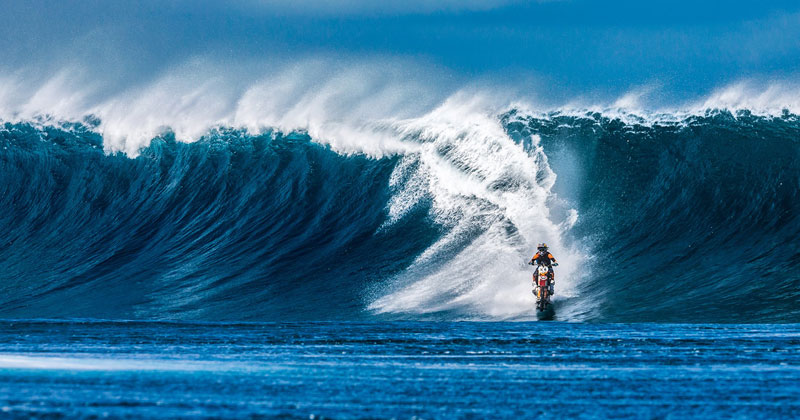 Robbie Maddison Just Rode a Wave in Tahiti… on a Motorcycle