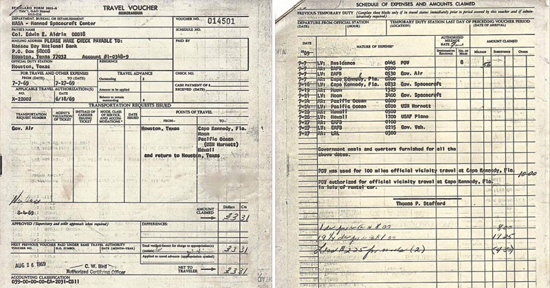 when buzz aldrin returned from the moon he had to fill out