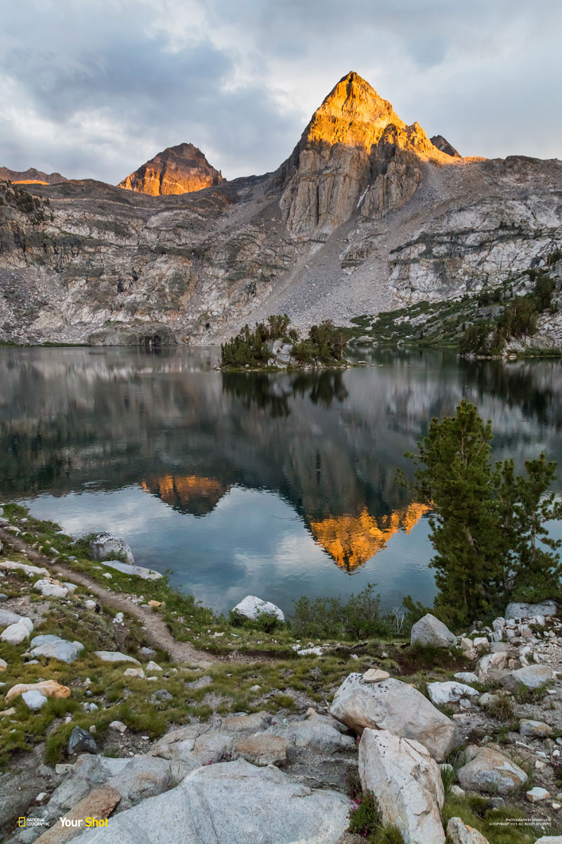Alpenglow above the Lake