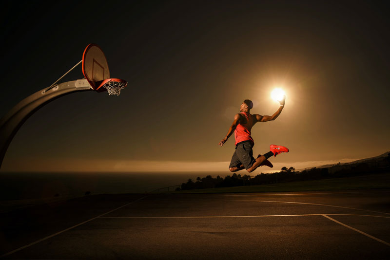 NBA Superstar Anthony Davis Dunks the Sun