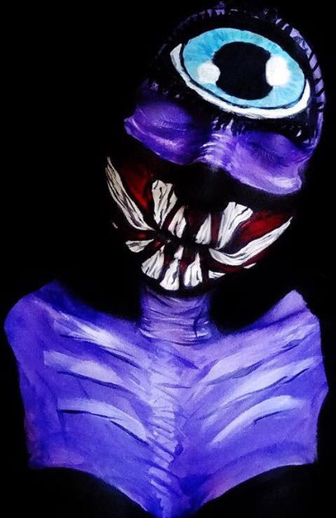 Bodypainter Corie Willet twistinbangs Completely Transforms Herself Into Beautiful Nightmares (8)