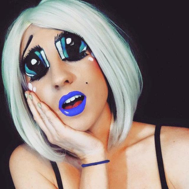 Bodypainter Corie Willet twistinbangs Completely Transforms Herself Into Beautiful Nightmares (9)