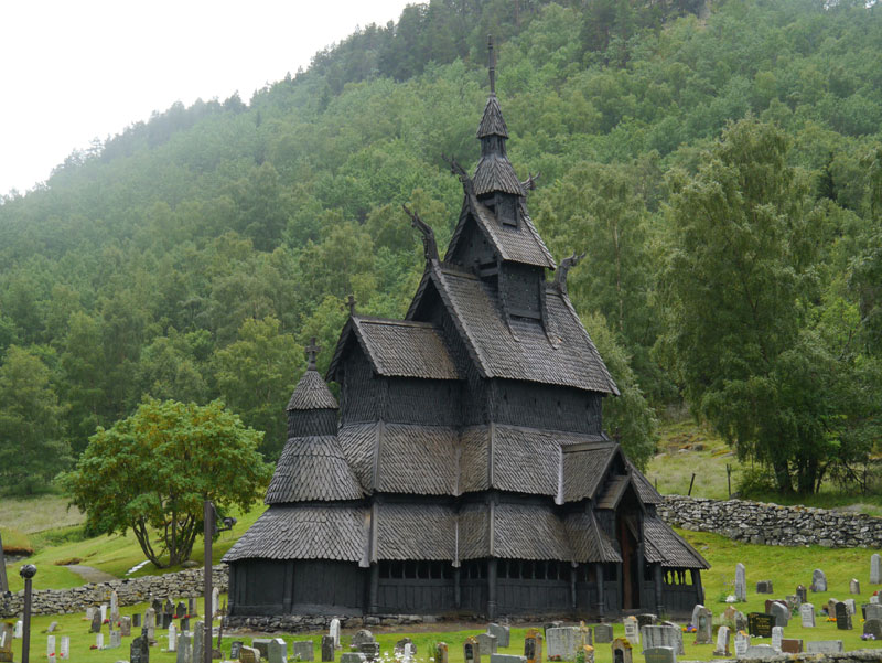 Amazing Borgund Stave Church Norway (4) Awesome Design