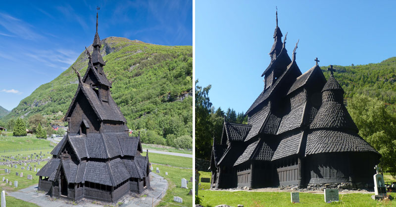 This Triple Nave Stave Church in Borgund, Norway Looks Awesome