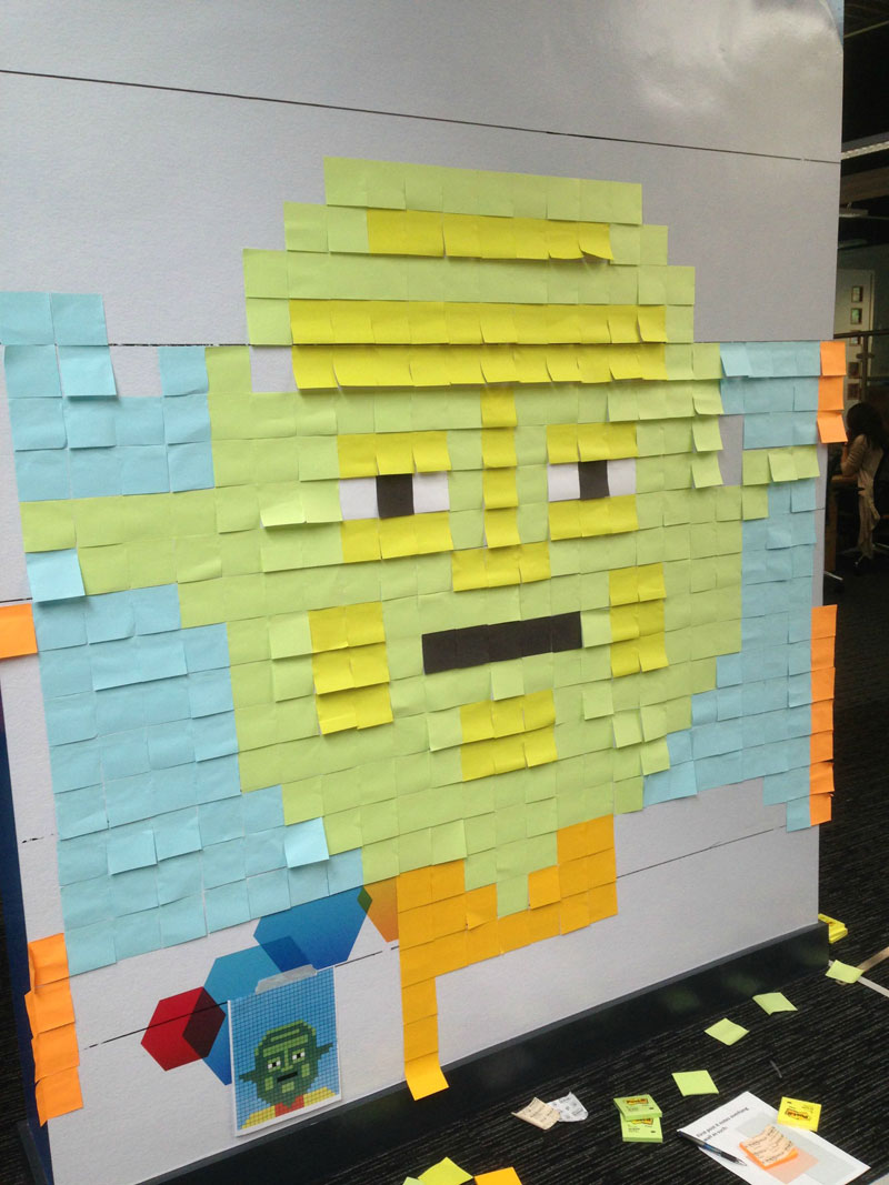 Co-Workers Use Post-Its to Turn Boring Office Walls Into Awesome Star Wars Characters (15)