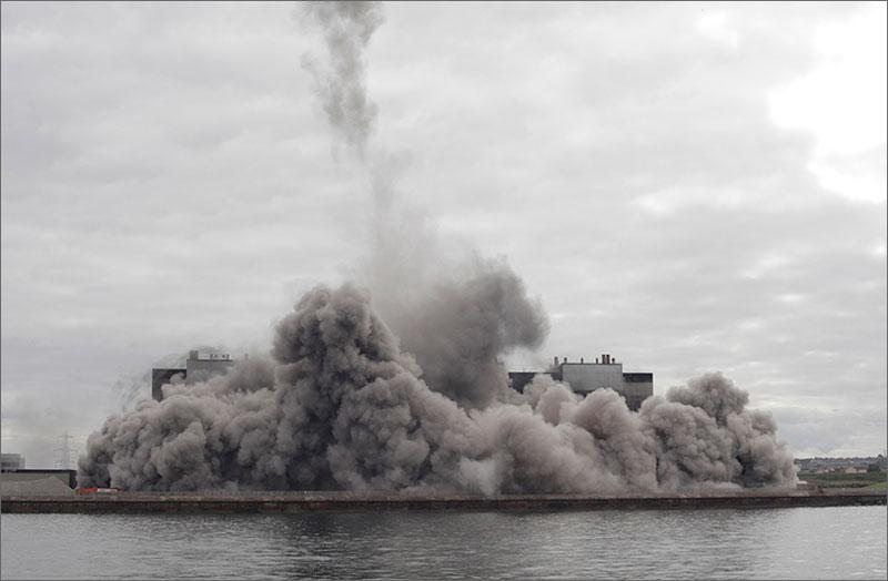 Cockenzie Power Station Demolition Scottish power 2015 (1)