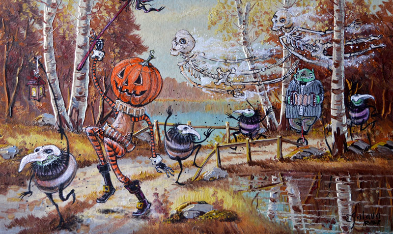 David Irvine Continues to Paint the Most Random Characters Into Old Thrift Store Paintings