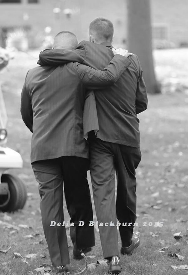 Father of the Bride Grabs Her Stepfather So He Can Also Walk Down the Aisle delia blackburn (2)