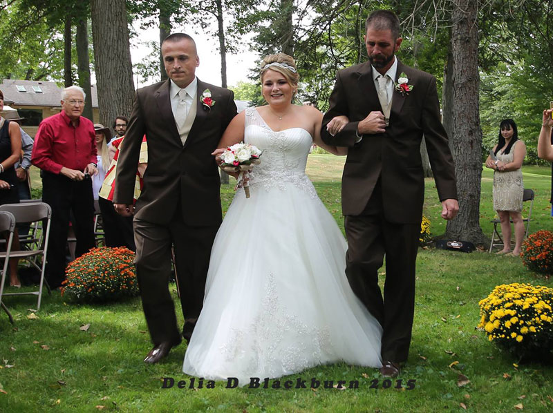 Father of the Bride Grabs Her Stepfather So He Can Also Walk Down the Aisle delia blackburn (3)