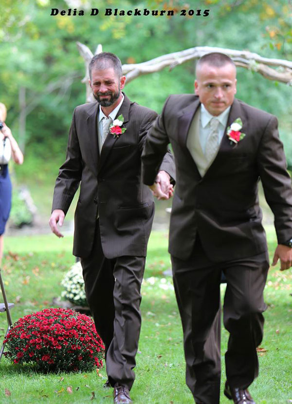 Father of the Bride Grabs Her Stepfather So He Can Also Walk Down the Aisle delia blackburn (5)