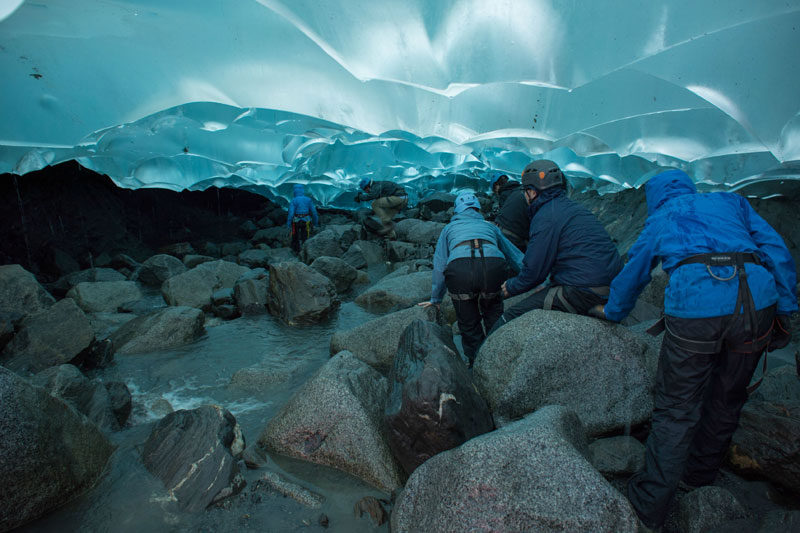 Picture Of The Day: Hiking Into A Glacier «TwistedSifter