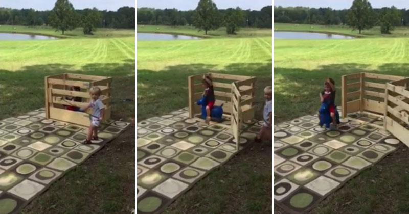 Imagination is a Wonderful Thing: Kids Pretend to Bull Ride Stuffed Animal
