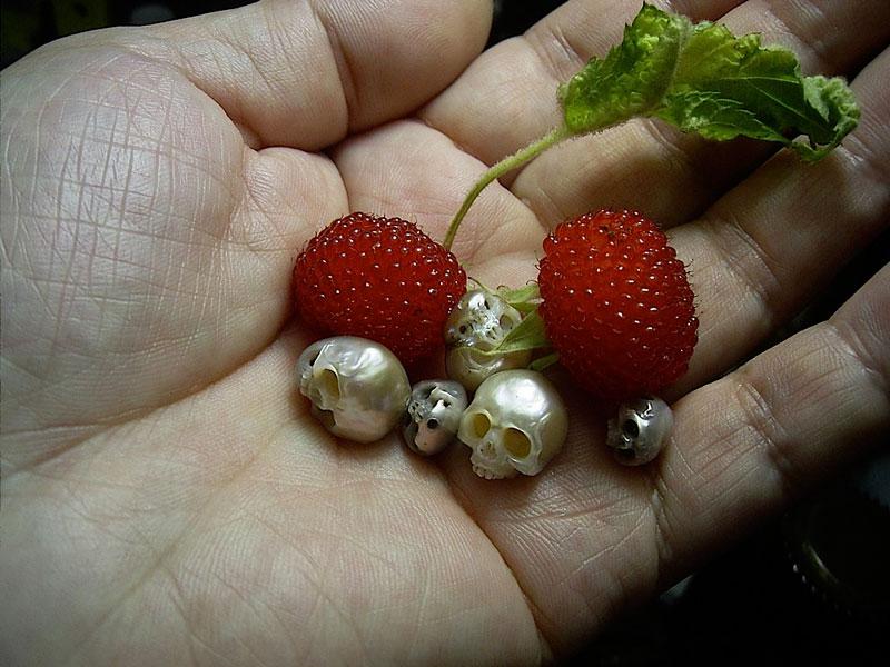 Shinji Nakaba Carves Amazing Miniature Skulls Out ofPearls