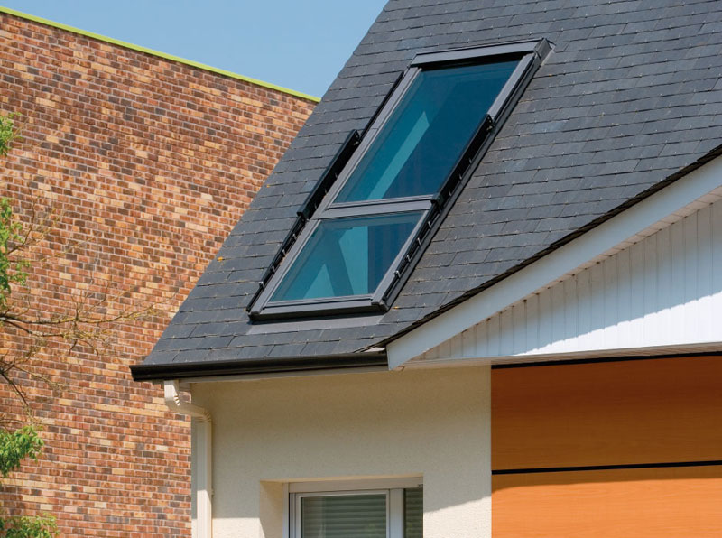 attic furniture ideas - This Roof Window Can Transform Into a Small Balcony