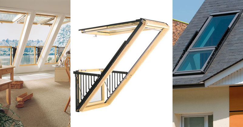 Velux cabrio balcony window - palzon.com.