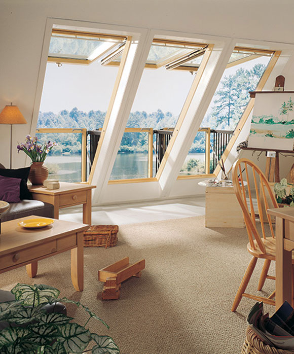 Roof Window Opens Into Balcony Velux Cabrio 6 171 Twistedsifter