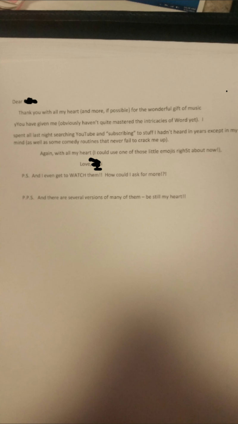 Senior Learning to Use the Internet Wrote This Letter to Her Teacher (1)