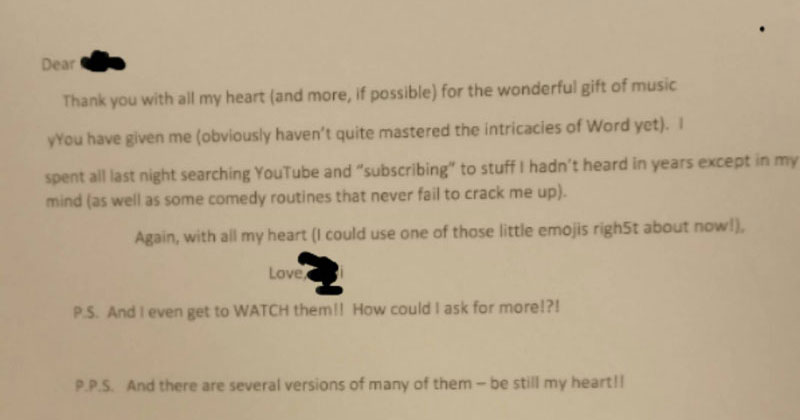 A Senior Learning to Use the Internet Just Wrote This Letter to HerTeacher