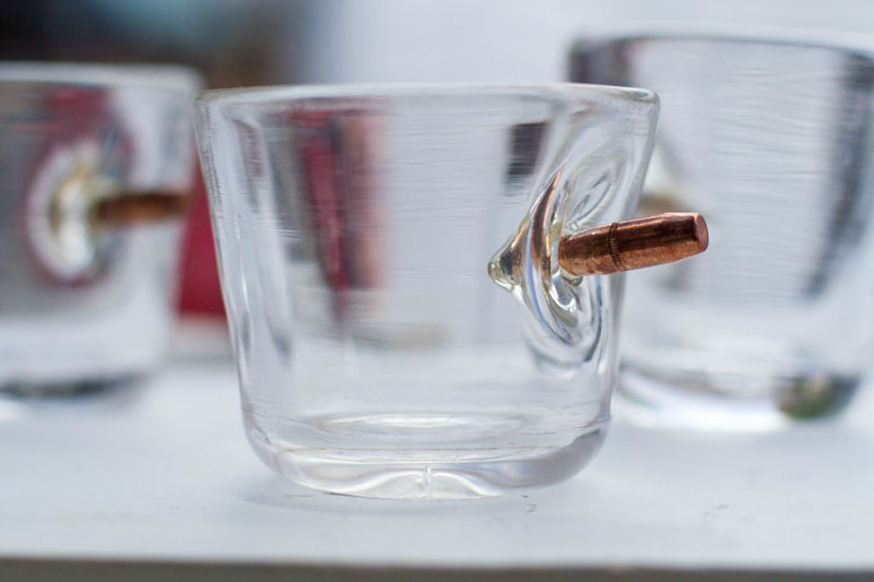 shot glasses with real bullets Picture of the Day: Shot Glasses