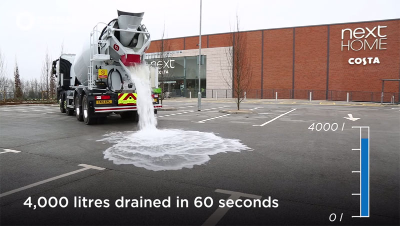 Super Permeable Concrete Drains 4000 Litres of Water in 60 Seconds (1)