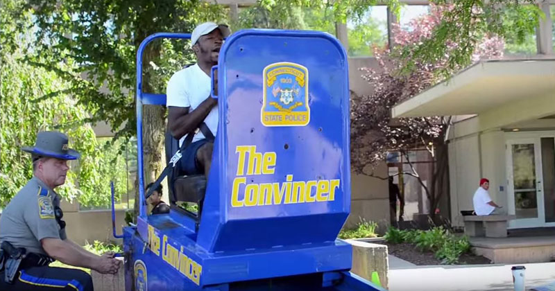 """The Convincer"" Simulates a 5 MPH Crash to Promote Seatbelt Safety"