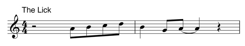 the jazz lick music sheet An Awesome Compilation of the Most Used Jazz Lick Ever