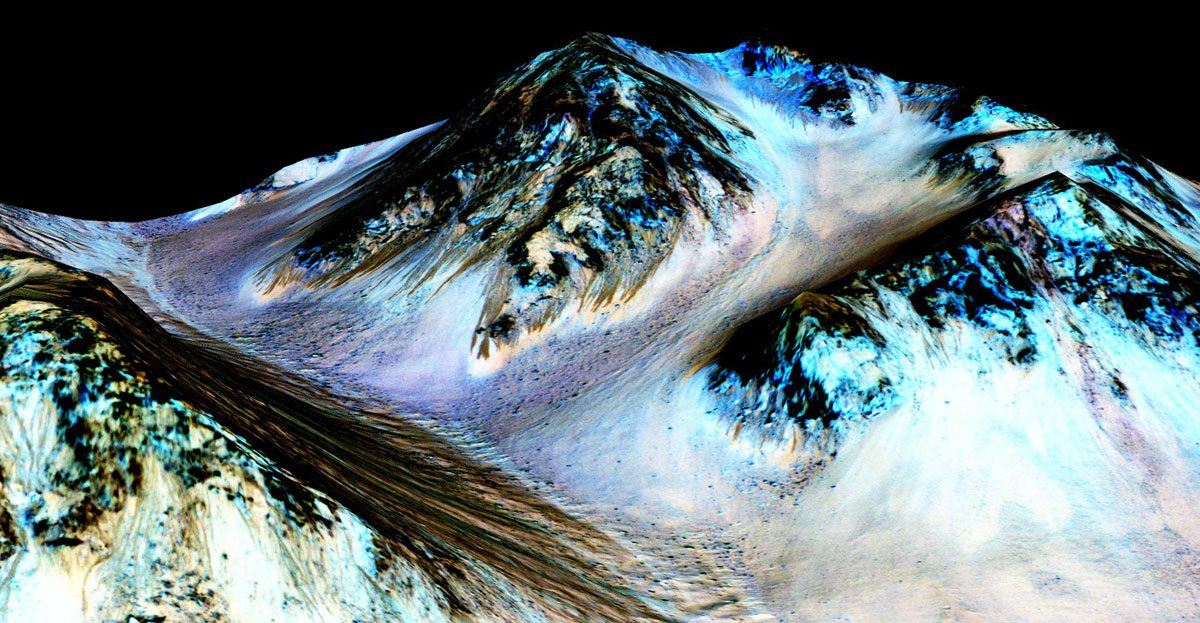 water on mars nasa Picture of the Day: Water on Mars