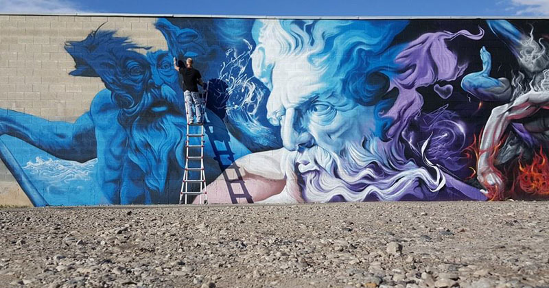 SRIL Completes Epic 100 Ft Mural in Salt Lake City