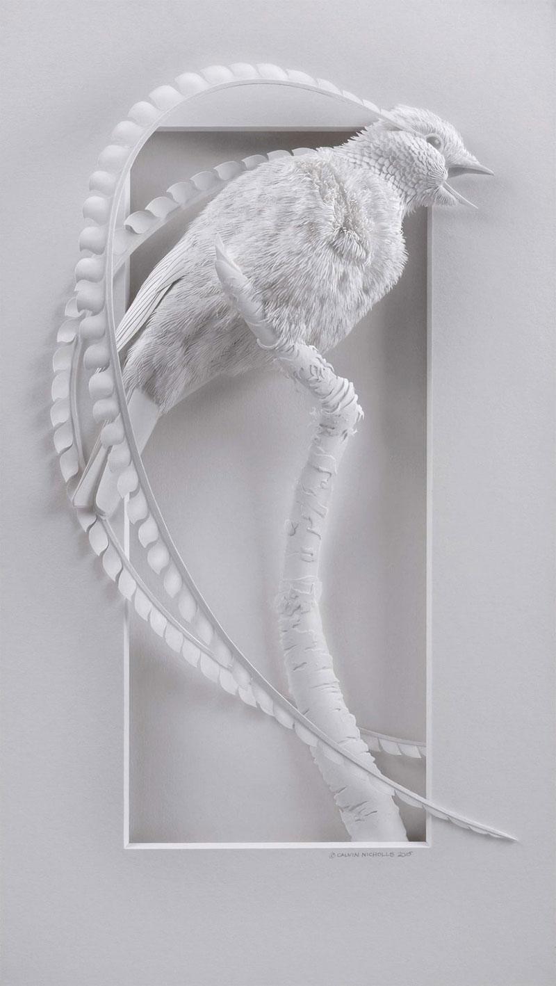 3d paper animal sculptures by calvin nicholls (14)