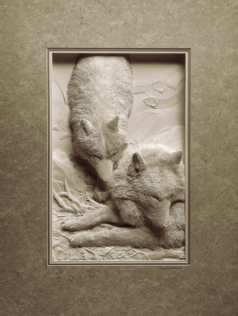 3d paper animal sculptures by calvin nicholls (3)