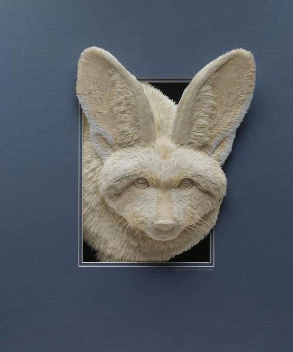 3d paper animal sculptures by calvin nicholls (6)