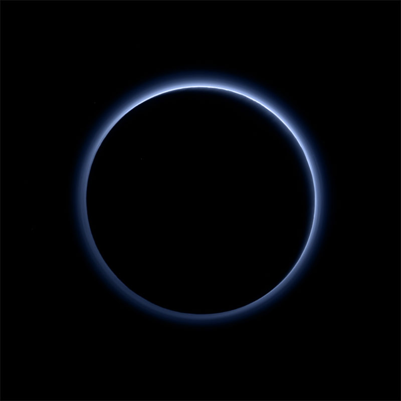 blue skies on pluto nasa Picture of the Day: Blue Skies on Pluto