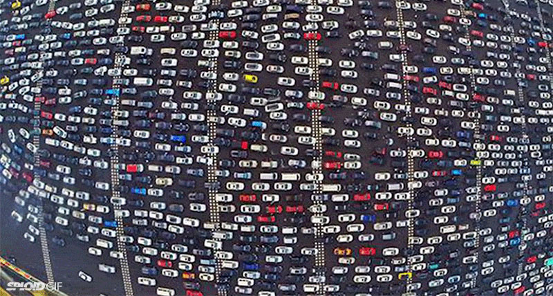 This Traffic Jam in Beijing is Insane