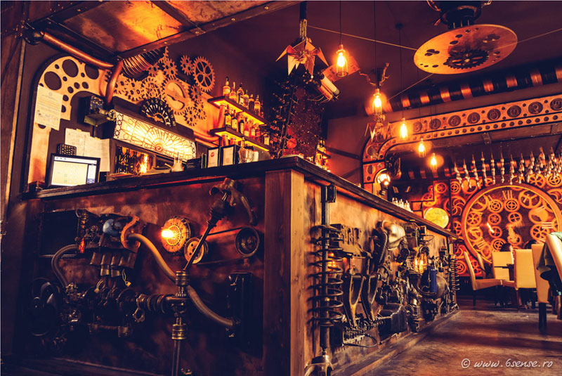 This steampunk bar in romania is filled with kinetic - Decoration boite de nuit ...